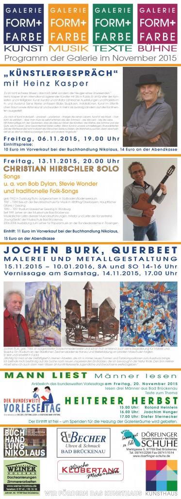 Programm November 2015